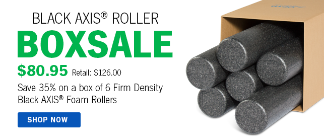 Black AXIS Foam Roller Box Sale