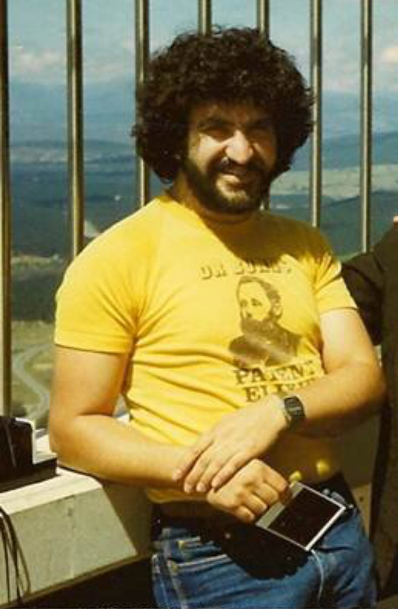 Louie in Australia where he worked as a physiotherapist, 1981.
