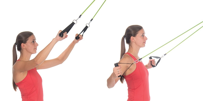 Resistance Band Lat Pulldown