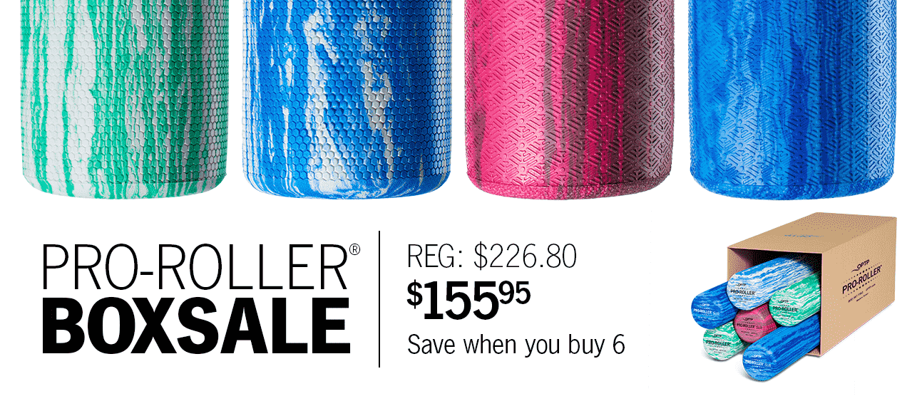 PRO-ROLLER Box Sale - Save $36 on 6 Foam Rollers