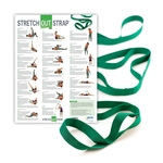 440PS Stretch Out Strap with Exercise Poster