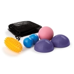 489SET Massage Ball Set with Purple Half Balls