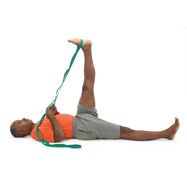 Image result for hamstring stretch with strap