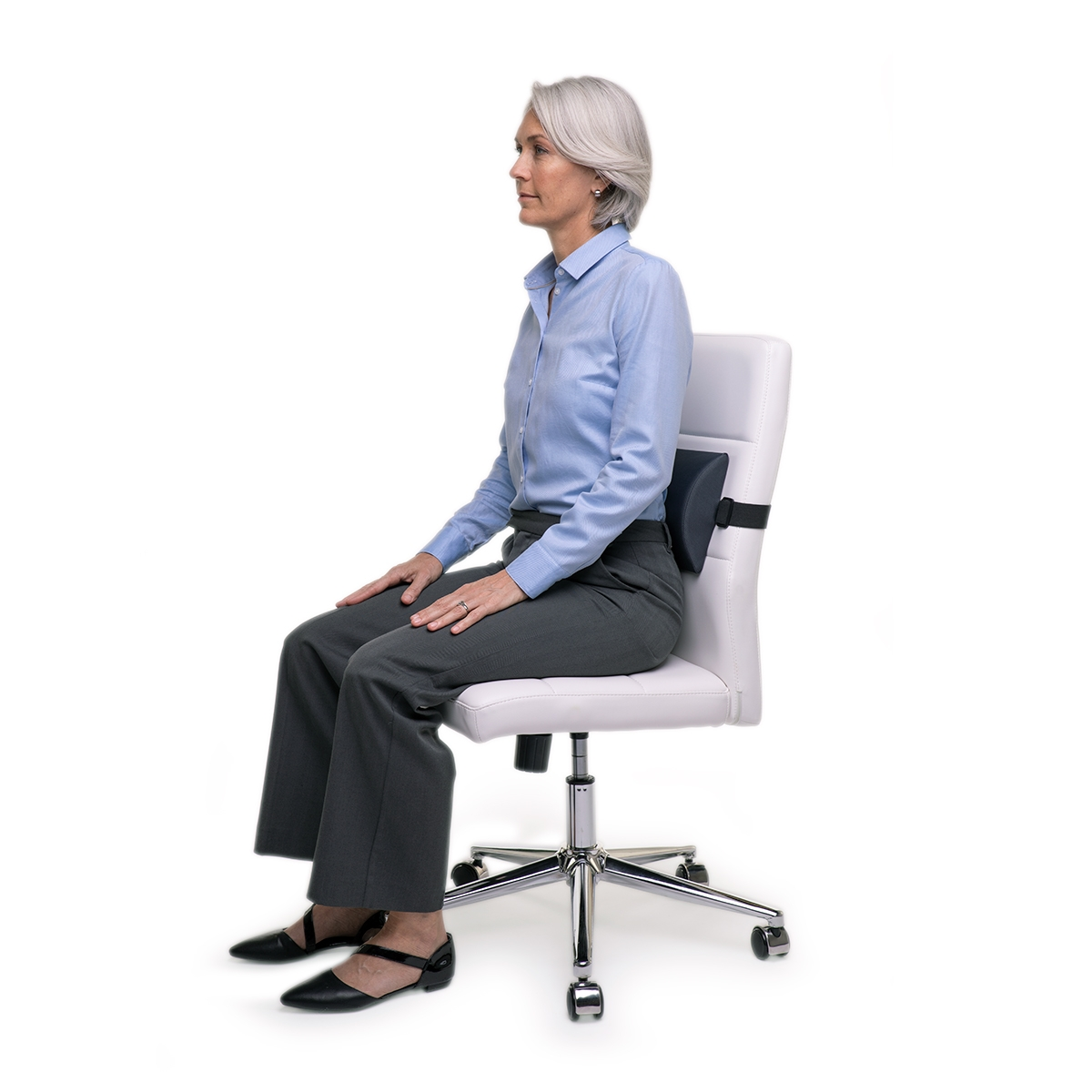 Balance Cushion For Chair Original McKenzie Slimline Lumbar Support used in office chair