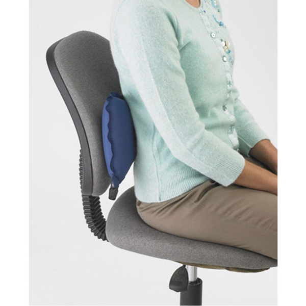 office chair lumbar pillow. original mckenzie self-inflating airback lumbar support used in office chair pillow