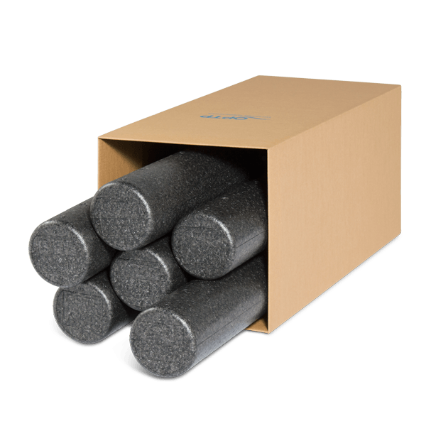 box of six black axis firm foam rollers optp. Black Bedroom Furniture Sets. Home Design Ideas